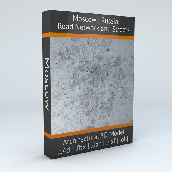 Moscow Road Network and Streets Architectural 3D model