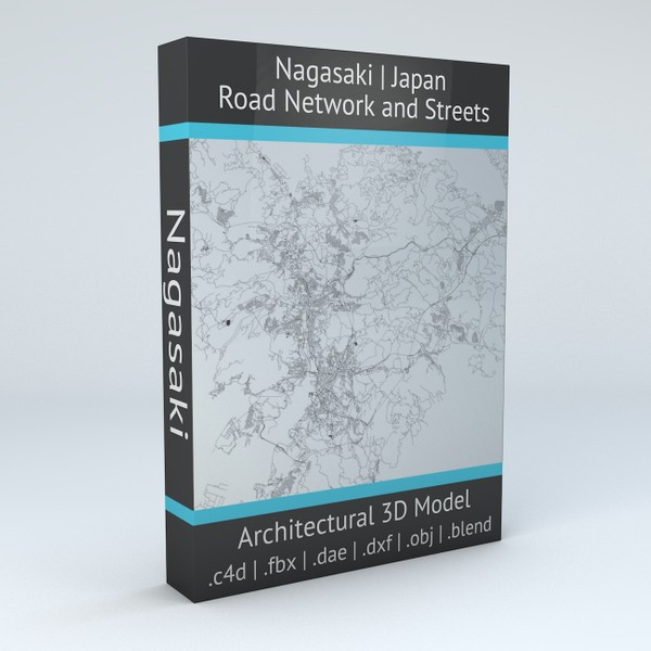Nagasaki Road Network and Streets Architectural 3D model