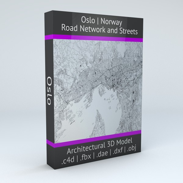 Oslo Road Network and Streets Architectural 3D model