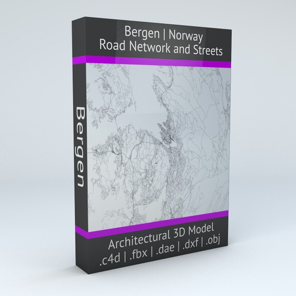 Bergen Area Road Network and Streets Architectural 3D model
