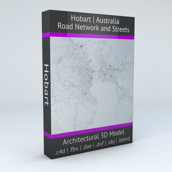 Hobart Road Network and Streets 3D model