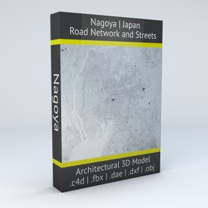 Nagoya Road Network and Streets Architectural 3D model