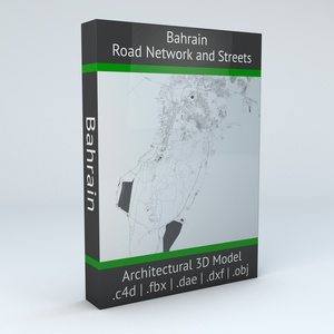 Bahrain Road Network and Streets Architectural 3D model