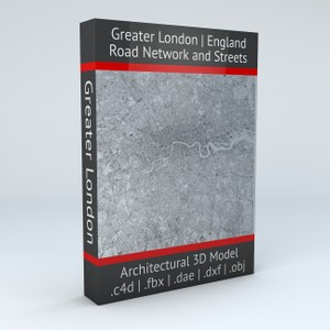 Greater London Area Road Network Architectural 3D Model