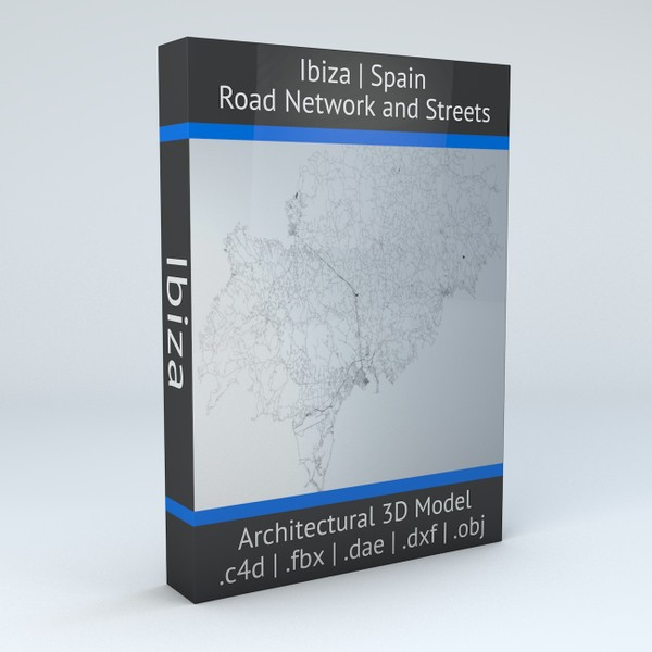 Ibiza Road Network and Streets Architectural 3D model
