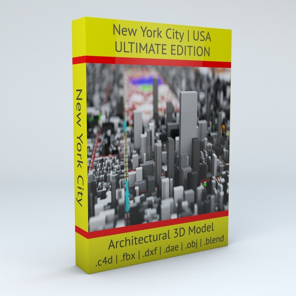 New York City Streets Buildings Transport Sport Ultimate Architectural 3D model
