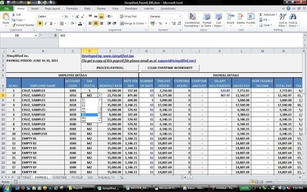 Payroll Excel System (TRAIN Compliant)