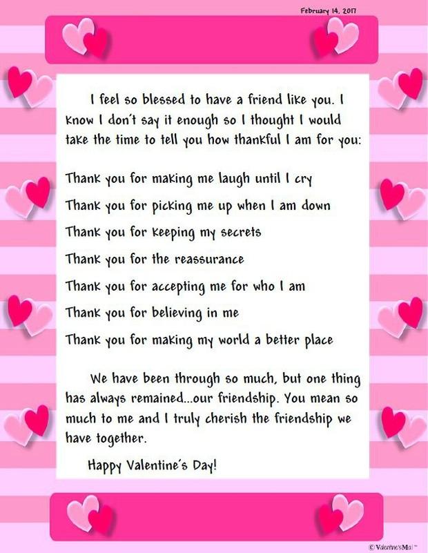 Friendship Letter