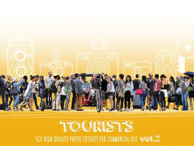 TOURISTS - 101 Photo Cutouts