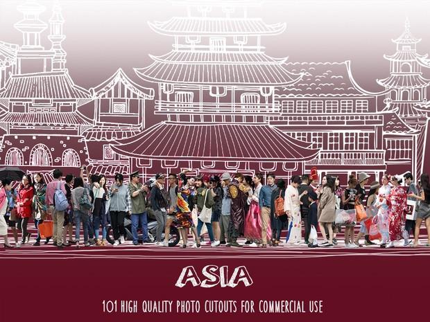ASIA - 101 Photo cutouts