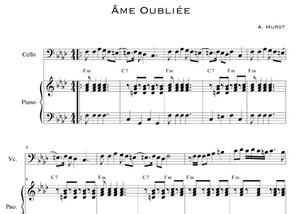 Âme Oubliée Sheet Music by Adam Hurst