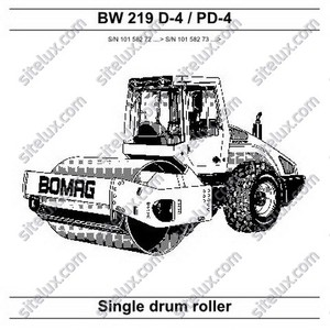Bomag BW 219 D-4/PD-4 Single Drum Roller Service Manual