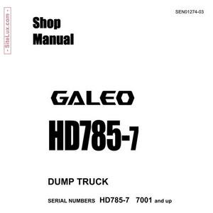 Komatsu HD785-7 Dump Truck Shop Manual - SEN01274-03