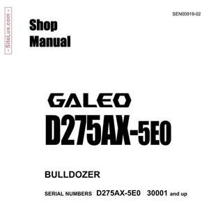 Komatsu D275AX-5E0 Galeo Bulldozer (30001 and up) Shop Manual - SEN00919-02
