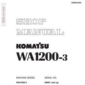 Komatsu WA1200-3 Wheel Loader (50001-up) Shop Manual - SEBM018209