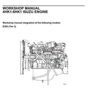 New Holland Kobelco 4HK1-6HK1 Isuzu Engine Workshop Manual - 604.13.649