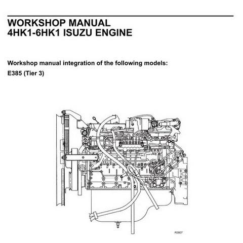 New Holland Kobelco 4HK1-6HK1 Isuzu Engine Workshop Ma