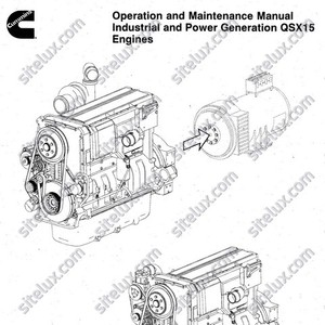 Cummins QSX15 Industrial and Power Generation Engines Operation and Maintenance Manual