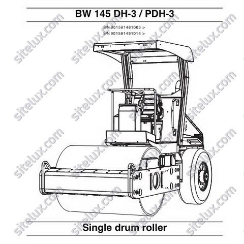 Bomag BW 145 DH-3/PDH-3 Single Drum Roller Repair Instructions