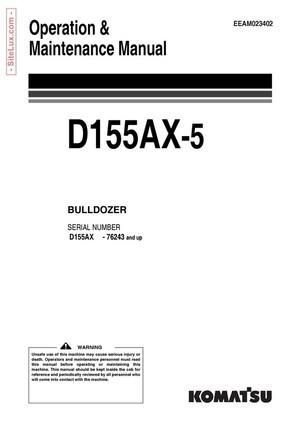 Komatsu D155AX-5 Galeo Bulldozer (76243 and up) Operation & Maintenance Manual - EEAM023402