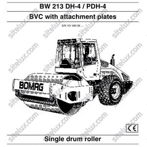 Bomag BW 213 DH-4/PDH-4 Single Drum Roller Operation & Maintenance Instructions