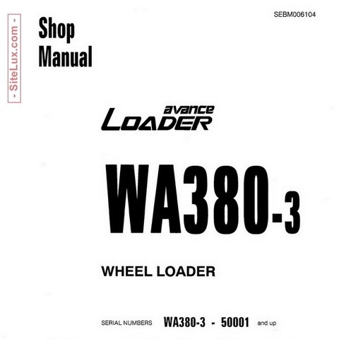 Komatsu WA380-3 Wheel Loader (50001 and up) Shop Manual - SEBM006104