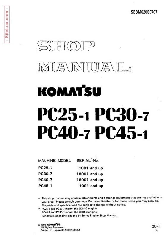 Komatsu pc25 1 pc30 7 pc40 7 pc45 1 ebook array komatsu pc128uu 2 hydraulic excavator 5001 and up sh rh sellfy com fandeluxe Gallery