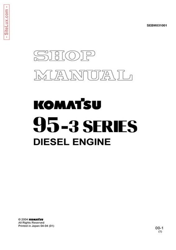 Komatsu 95-3 Series Diesel Engine Shop Manual - SEBM031001