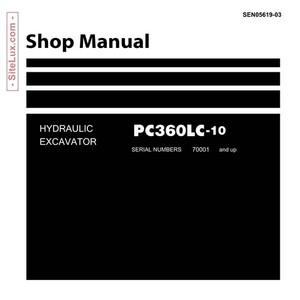 Komatsu PC360LC-10 Hydraulic Excavator (70001 and up) Shop Manual - SEN05619-03