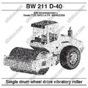 Bomag BW 211 D-40 Single Drum Wheel Drive Vibratory Roller Spare Parts Catalog