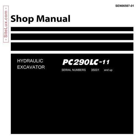 Komatsu PC290LC-11 Hydraulic Excavator (35001 and up) Shop Manual - SEN06507-01