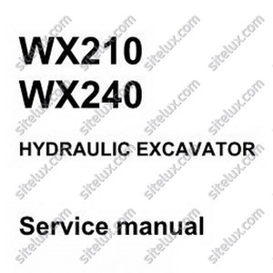 Case WX210-WX240 Mobile Excavator Service Manual - 9-91270