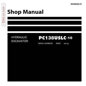Komatsu PC138USLC-10 Hydraulic Excavator (40001 and up) Shop Manual - SEN06062-01