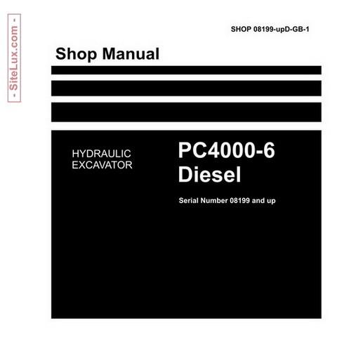 komatsu pc4000 6 diesel hydraulic excavator shop manua