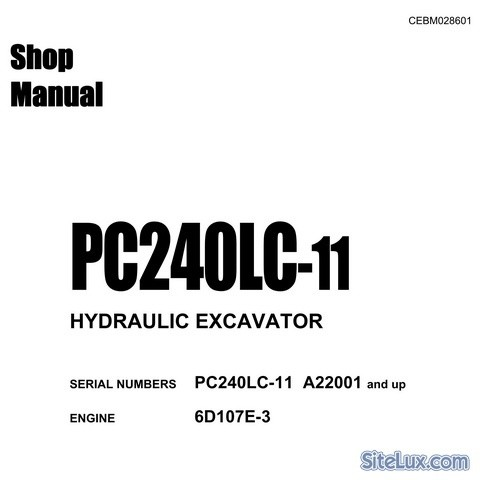 Komatsu PC240LC-11 Hydraulic Excavator (A22001 and up)