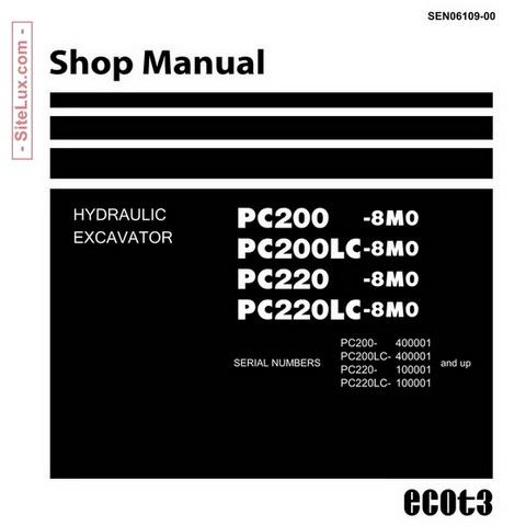 komatsu pc200 8m0, pc200lc 8m0, pc220 8m0, pc220lc 8m0Electrical Wiring Diagram Operation And Maintenance Manual Epc #14