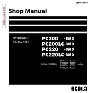 Komatsu PC200-8M0, PC200LC-8M0, PC220-8M0, PC220LC-8M0 Hydraulic Excavator Shop Manual - SEN06109-00