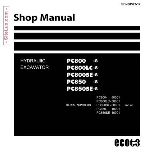 Komatsu pc800 800lc 800se 850 850se 8 hydraulic ex komatsu pc800 800lc 800se 850 850se 8 hydraulic excavator shop manual fandeluxe Image collections