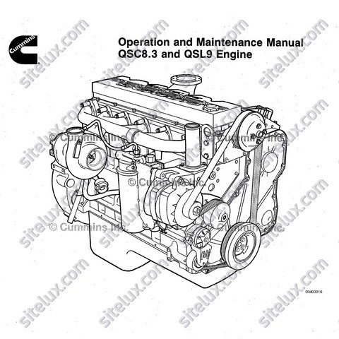 CUMMINS QSC8 3 QSL9 ENGINE OPERATION AND MAINTENANCE