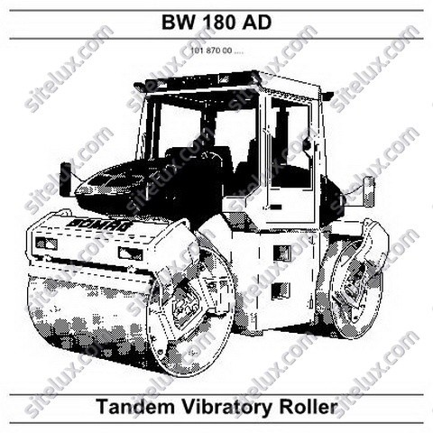 Bomag BW 180 AD Tandem Vibratory Roller Repair Instructions