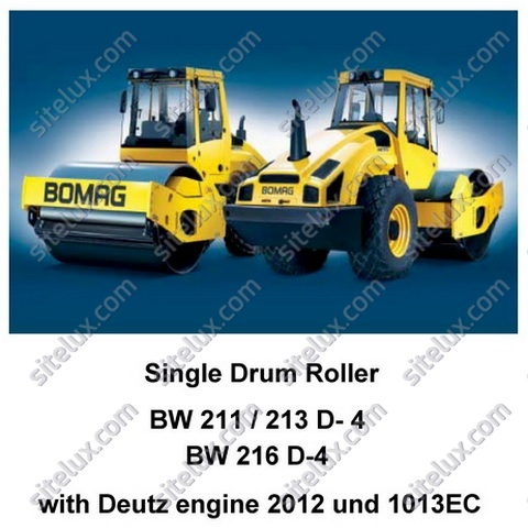 Bomag BW 211/213/216 D-4 Single Drum Roller Service Training