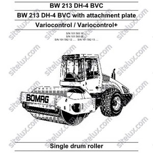 Bomag BW 213 DH-4 BVC Single Drum Roller Service Manual