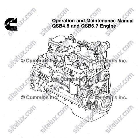 Cummins QSB4.5 and QSB6.7 Engine Operation and Mainten