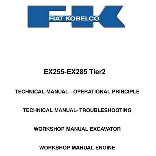 fiat kobelco ex255 ex285 excavator technical works