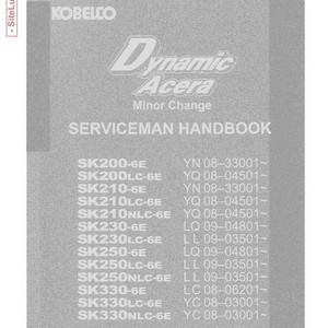 Kobelco Dynamic Acera Minor Change Hydraulic Excavator Serviceman Handbook - S7YO00807ZE01