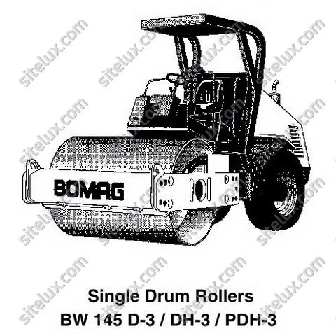 Bomag BW 145 D-3/DH-3/PDH-3 Single Drum Rollers Service Training