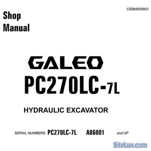 Komatsu PC270LC-7L Galeo Hydraulic Excavator (A86001 and up) Shop Manual - CEBM005903