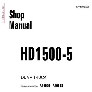 Komatsu D1500-5 Dump Truck Shop Manual - CEBM006203