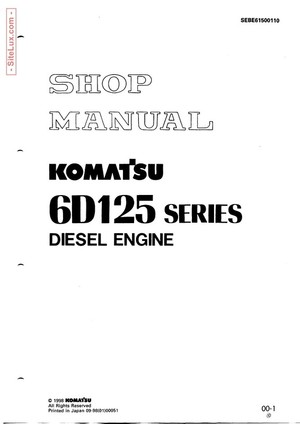 Komatsu 6D125 Series Diesel Engine Shop Manual - SEBE61500110
