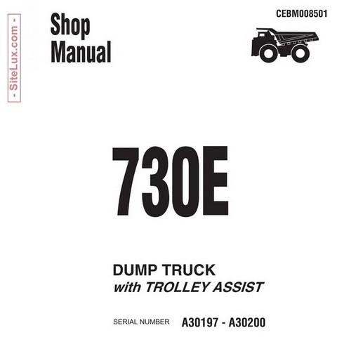 Komatsu 730E Dump Truck Shop Manual - CEBM008501